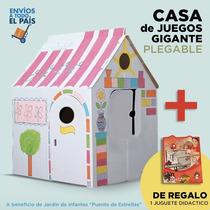 Juguetes Dia Niño Casa Gigante Cartón Armar Pintar + Regalo