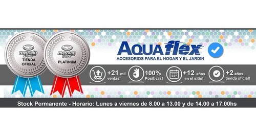 Ducha De Mano Cromada Soporte Y Flexible 8021c+s5 Aquaflex