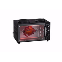 Horno Electrico Ken Brown 40 Lts Doble Anafe Negro Tk-4000