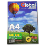 Papel A4 Foto Glossy Candy Bar 200gr X20 Hojas ( Pack X5 )
