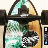 Surfskate Fishtail Banga - Simulador Surf  40%off Longboard