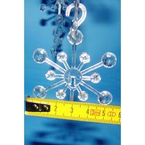 10 X Estrella Cristal Hielo Retro Ch Arbolito Navidad Movil
