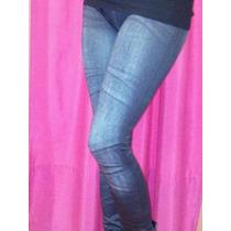 Calzas/leggins Simil Jean,termicas/frizadas! Azul-negro Sexy