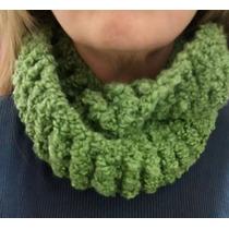 Cuellos Bufanda Lana Buclé Tejido Crochet Circular Moda