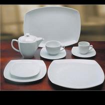 Vajilla Porcelana Tsuji Cuadrados Taza Te+plato Ss