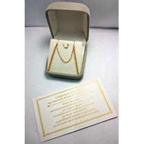 Cadena Oro 18k Eslabon Singapur Certificado Garantia Jr