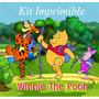Kit Imprimible Winnie The Pooh Y Amigos Invitaciones Marcos
