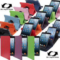 Funda Ipad 2 3 4 Giratoria 360° Simil Cuero Colores On/off