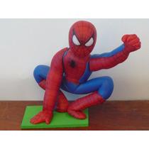 Centro De Torta Hombre Araña Porcelana Fría