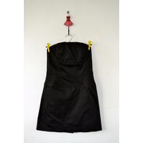 Vestido Strapless Negro Con Corset - Importado