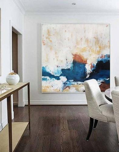 Cuadros Grandes Abstractos Modernos Textura Relieve 5200 En - Cuadros-en-relieve-modernos