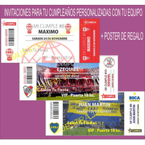 Invitaciones Cumpleaños De Tu Equipo De Futbol + Regalo!!!
