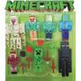 Set Muñecos Minecraft Figuras + Armas Y Accesorios. Envio