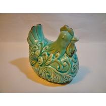 Mepai Adorno Forma De Gallina De Ceramica Turquesa Mm371384