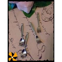 Dije Cucharitas Tenedores Cucharas Por 10 U Decoración