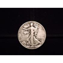 Moneda 1/2 Dolar Liberty 1946 Eeuu 12,5 Plata 900 Half Medio