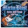 Encordado Para Bajo 5 Cuerdas Martín Blust .040 Ó .045