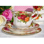 Trio De Té, Porcelana Royal Albert - Old Country Roses segunda mano  capital federal