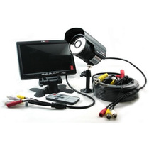 Kit Seguridad Cctv Lcd 7´ + Camara 30 Leds C/audio + Acces.