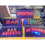 Cartel Led Bar 48 X 25 Cm Alta Luminosidad C/ganchos