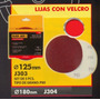 Lijas Con Velcro 125mm Black Jack