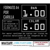 Impresiones - Fotocopias - Copias Lomas - Bn - Color