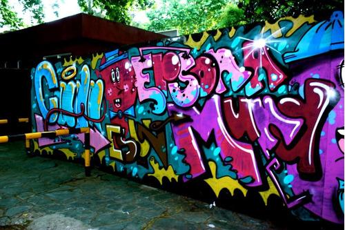 Dise o de interiores graffiti murales banderas for Murales diseno de interiores