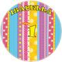Kit Temático Fiesta Etiquetas Rayas 15 Años Imprimible