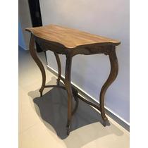 Consola de madera p tina dorada for Muebles y sillones quilmes