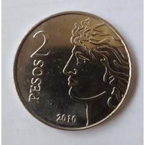Moneda 2 Pesos Aniversario Banco Central -sin Circular-