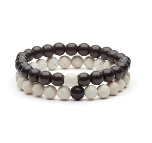 4a016f7f5767 Pulseras Distancia - Yin Yang Piedras Naturales Hombre Mujer en ...