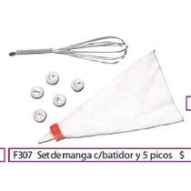 Set De Manga Con Batidor Y 5 Picos