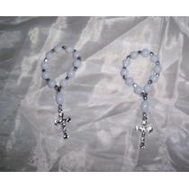 Souvenirs Delicados Denarios/rosarios Blancos X 10 Unidades