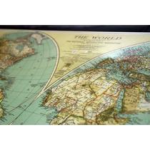 Impresion Mapas Planisferios Antiguos Montados En Canvas