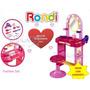 Tocador Rondi Fashion Set Con Muchos Accesorios Y Banquito