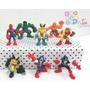 Pack Avengers Muñecos X8 Spiderman Hulk Y Otros Adorno Torta