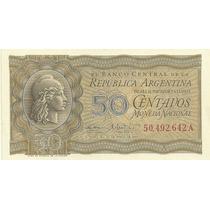 Billete 50 Centavos Moneda Nacional Año 1950 Serie A