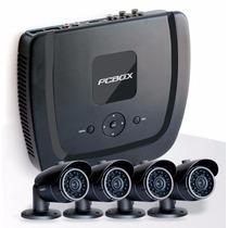 Kit Seguridad Pcbox 4 Camaras Dvr 500gb Vga Hdmi Usb Int Ext