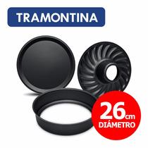 Molde Torta Antiadherente Teflón Desmontable Tramontina 26cm