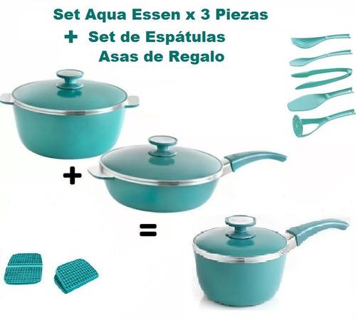 Aqua Essen aqua essen set 11499 x 3 piezas utensilios asas oferta