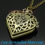 Collar Reloj Corazón Cadena Especial Las Grandes Marcas