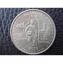 U. S. A. - Illinois, Moneda D 25 Centavos (cuarto) Año, 2003