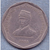 Republica Dominicana 25 Pesos 2005 * General Luperon * Heroe