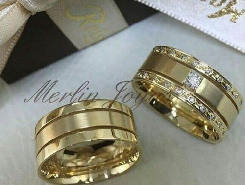 335fd2464ec8 Anillos De Bodas Casamientos Oro 18k 18 Gramos - M J - en venta en ...