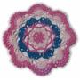 Carpeta Tejida Al Crochet Hilo Macramé Deco