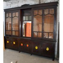 Mueble Antiguo Bar Almacén Ramos Generales Vitrina Pulperia