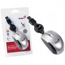Mini Mouse Retractil Genius Microtraveler Usb Notebook Silve