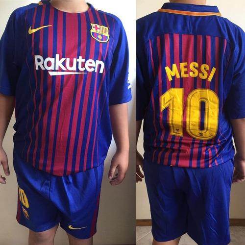 Conjunto Kit Niño Barcelona 2017 Camiseta Short Messi en venta en ... 15c301034a545