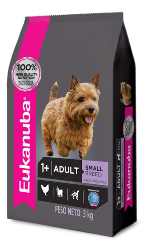 Alimento Eukanuba Perro Adulto Raza Pequeña 3kg