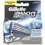 Gillette Mach3 Turbo Repuesto De Afeitar 4 Cartuchos
